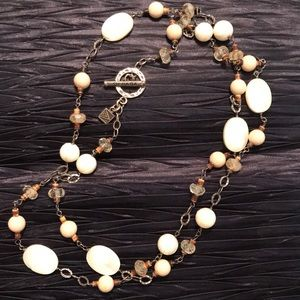 """🌟SILPADA Sterling, Mother of Pearl 36"""" Necklace"""
